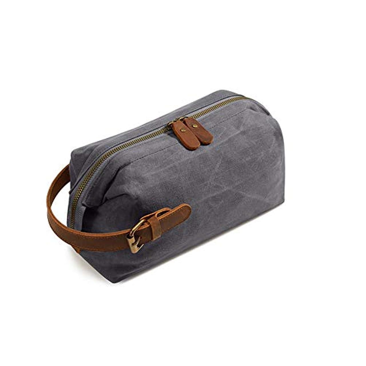 前置詞ボランティア砂多機能トラベルコスメティックバッグ、休日やビジネス旅行のためのポータブルハンギング防水大容量収納袋,グレー