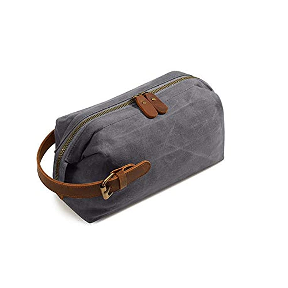 体系的に羊のクリップ蝶多機能トラベルコスメティックバッグ、休日やビジネス旅行のためのポータブルハンギング防水大容量収納袋,グレー