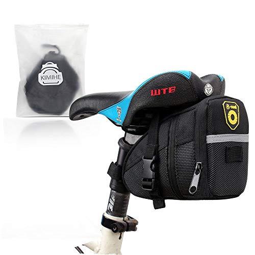 自転車 サドルバッグ,KIMIHE【超実用のアイテム】自転車バッグ シートバッグ 小物入れ 自転車につけるバッグ 大容量 耐水性 便利 防水