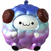 Squeezeおもちゃソフト羊chaofanjiancai Kids Squishy Stress Relief ballchains Slow Rising香りつき 8x9cm chaofanjiancai_Toys