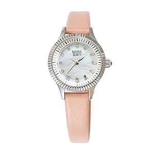 [ナチュラルビューティ] シンプル おしゃれ ソーラー 腕時計 充電 NB105SWHPK レディース シルバー ピンク