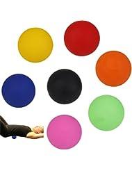 Perfk 2個 手のひら 足 腕 首 背中 足首 ジム ホーム 運動 マッサージボール ラクロスマッサージボール 黒色