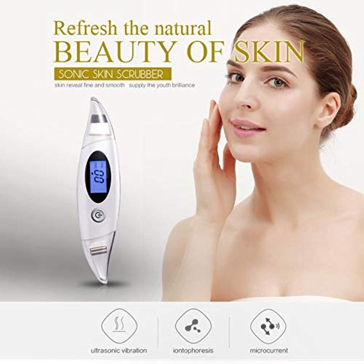 無厚いできたしわ除去Rf美容デバイス、顔のクレンジング、リフティング&引き締めデバイス、ディープクレンジング振動美容ツールをきつく締めるフェイスリフティングスキン
