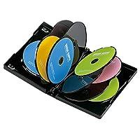 サンワサプライ DVDトールケース 10枚収納 ブラック DVD-TW10-01BK