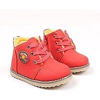 AutumnFall Kid厚み雪ブーツ、ベビー男の子女の子スポーツ靴冬ファッション幼児用子供スニーカー Age:4.5T レッド