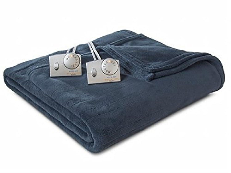 BiddefordブルーHeated Micro Plush Electric Blanketツインベッド温めOne Control