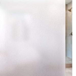 Rabbitgoo 窓 めかくしシート 水で貼れる目隠しシート 貼ってはがせるガラスフィルム 外から見えない窓用フィルム UVカット 防虫忌避 飛散防止(すりガラス 90 x 200cm)