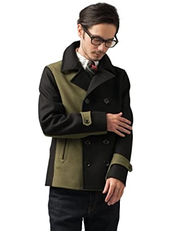 Melton Bi Color Peacoat 3225-139-1633: Olive