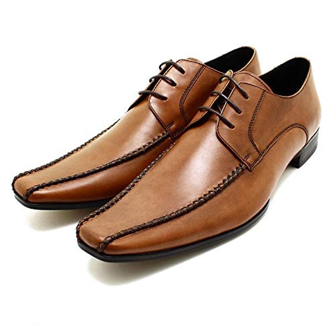 三角形ぞっとするような遺産whoop de doo/フープディドゥ 304834 スワローモカクロスステッチシューズ ブラウン 本革ビジネスシューズ ビジネス/ドレス/紐靴/革靴/仕事用/メンズ