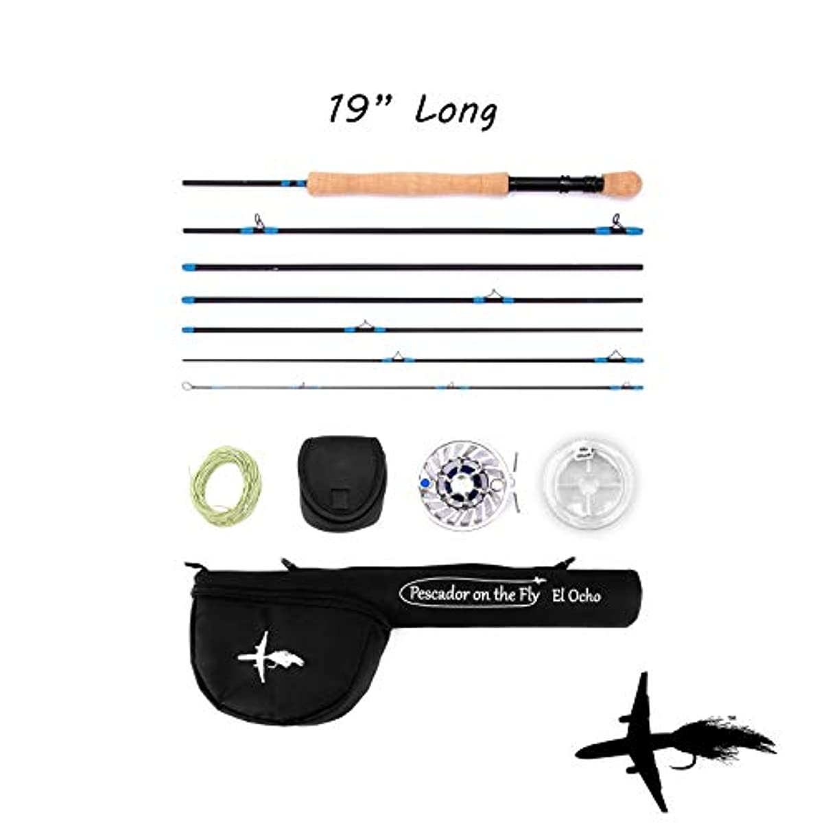 嬉しいです食欲とは異なりPescador on the Flyフライロッドとリールコンボ旅行、7ピース9足フライロッド、High Endリールの滑らかなドラッグ、Awesome 19.5インチケース。フライラインとBacking含ま。Must Have Flyfishingのアイテム2018。