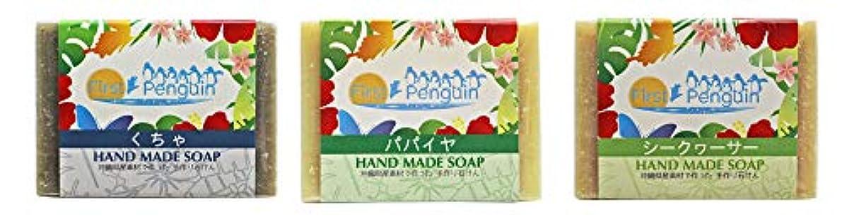 挨拶準備ができて悩む手作り洗顔石けん (くちゃ、パパイヤ、シークヮーサー)