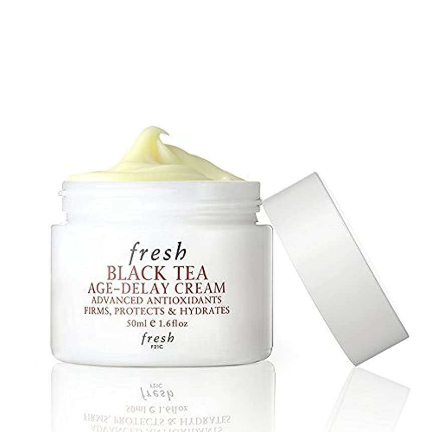 気分が悪いしっとり慣れるフレッシュ Black Tea Age-Delay Cream 50ml [海外直送品]