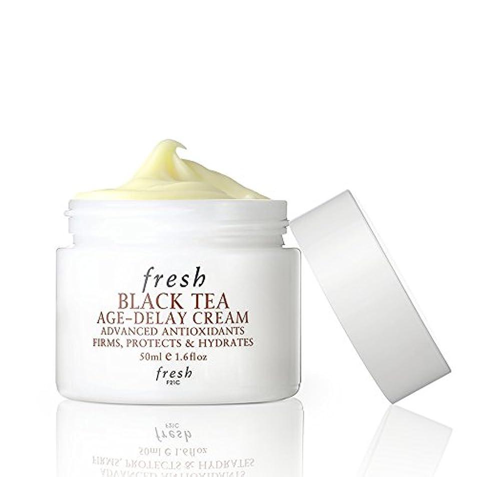 に賛成文字上院議員フレッシュ Black Tea Age-Delay Cream 50ml [海外直送品]