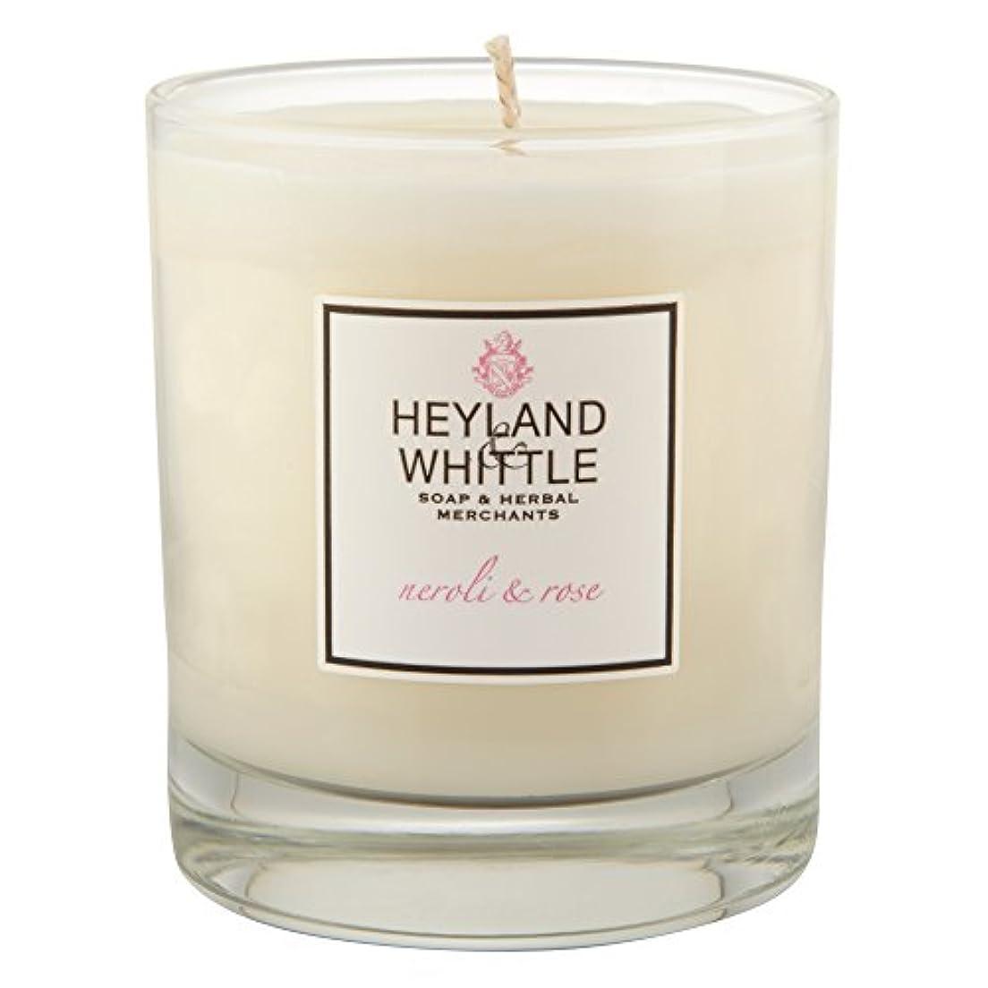 船上受け取る物理学者Heyland & Whittle Neroli and Rose Candle (Pack of 2) - Heyland&削るのネロリとローズキャンドル (Heyland & Whittle) (x2) [並行輸入品]