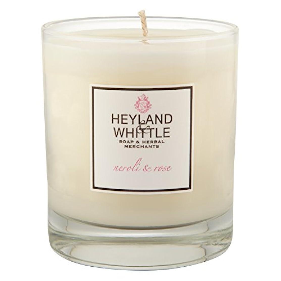 言うカスタムフェデレーションHeyland&削るのネロリとローズキャンドル (Heyland & Whittle) - Heyland & Whittle Neroli and Rose Candle [並行輸入品]