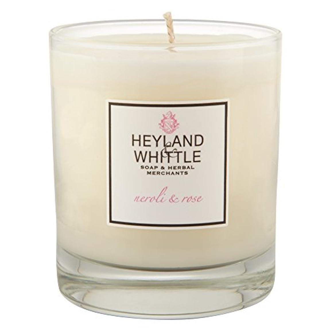 確認するつぶやきとんでもないHeyland & Whittle Neroli and Rose Candle (Pack of 6) - Heyland&削るのネロリとローズキャンドル (Heyland & Whittle) (x6) [並行輸入品]