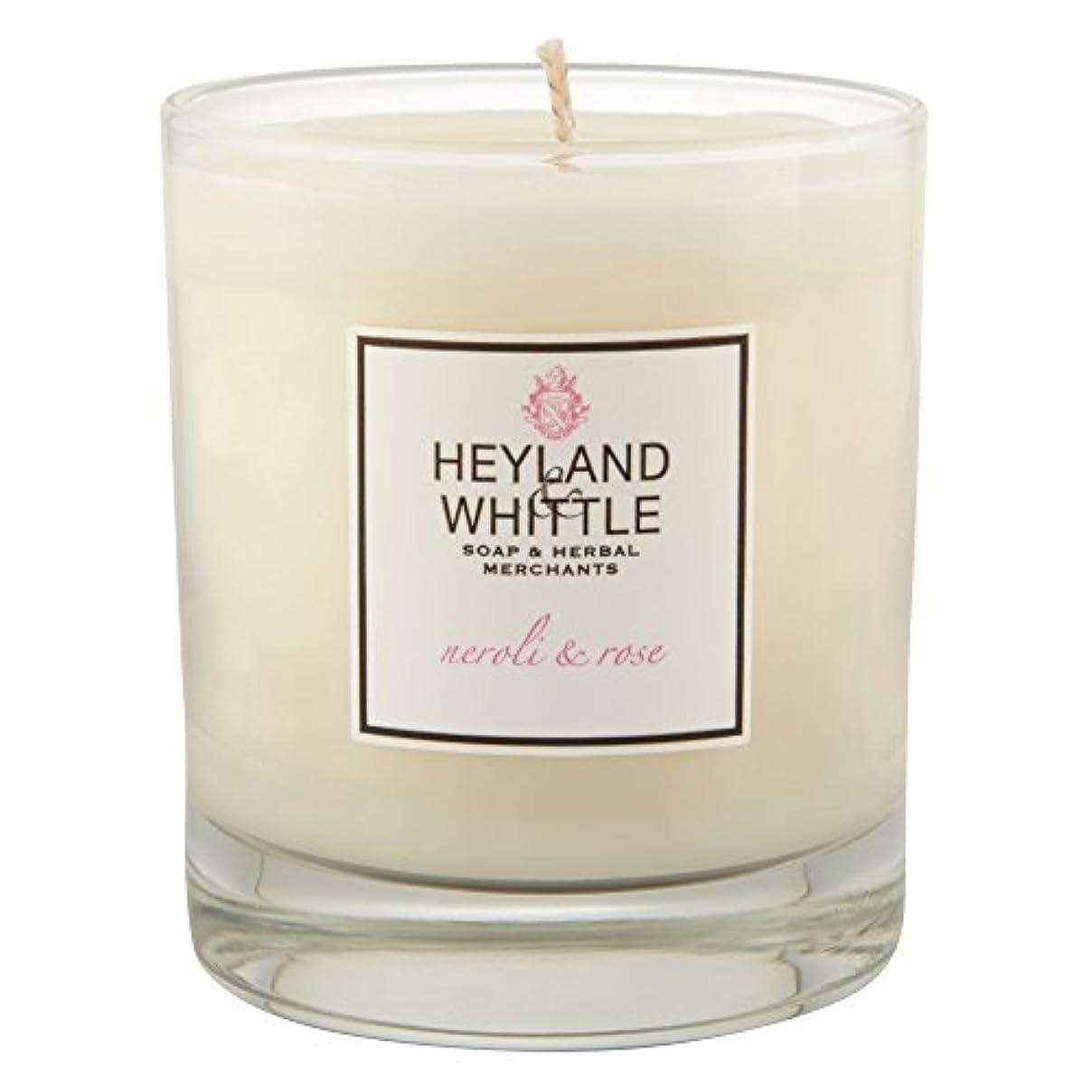 テンポ今日怒っているHeyland & Whittle Neroli and Rose Candle (Pack of 6) - Heyland&削るのネロリとローズキャンドル (Heyland & Whittle) (x6) [並行輸入品]