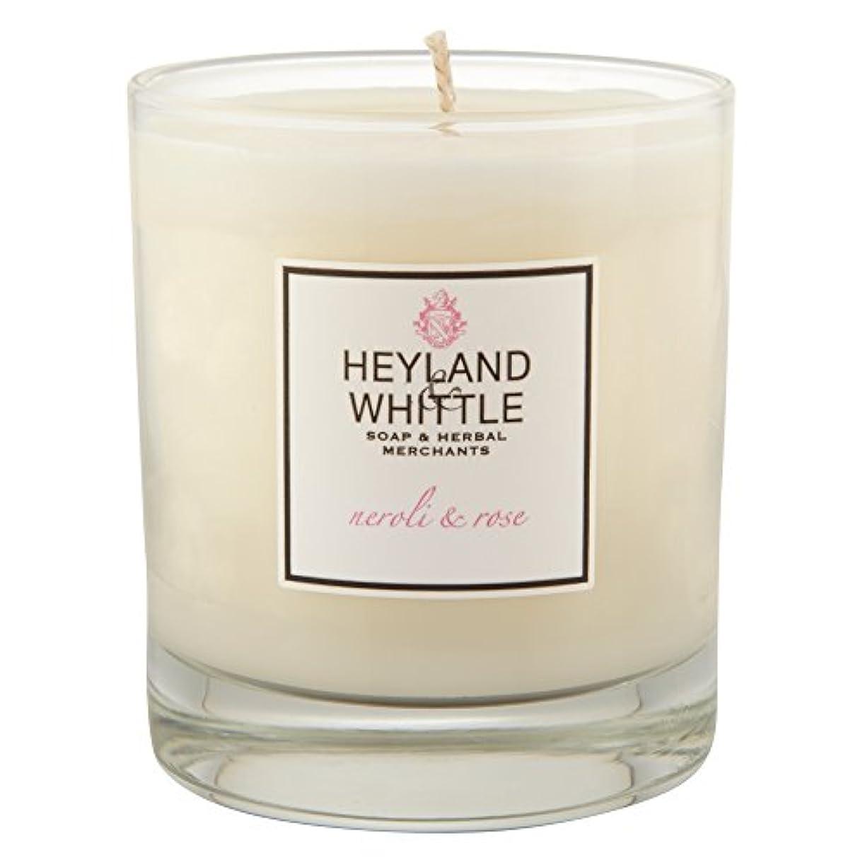震えフォーマット恐れるHeyland & Whittle Neroli and Rose Candle (Pack of 6) - Heyland&削るのネロリとローズキャンドル (Heyland & Whittle) (x6) [並行輸入品]