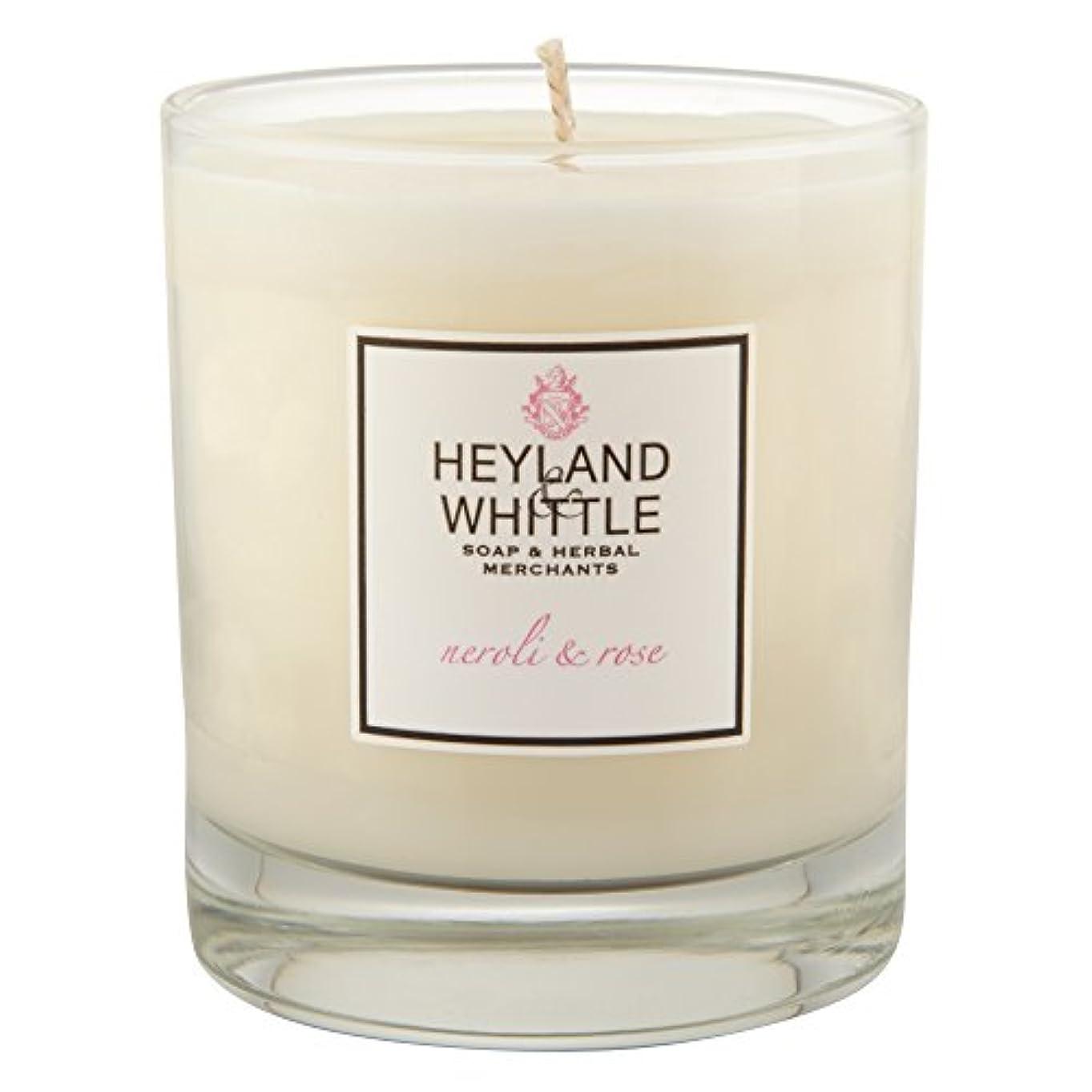 ロール怠なコールドHeyland & Whittle Neroli and Rose Candle (Pack of 6) - Heyland&削るのネロリとローズキャンドル (Heyland & Whittle) (x6) [並行輸入品]