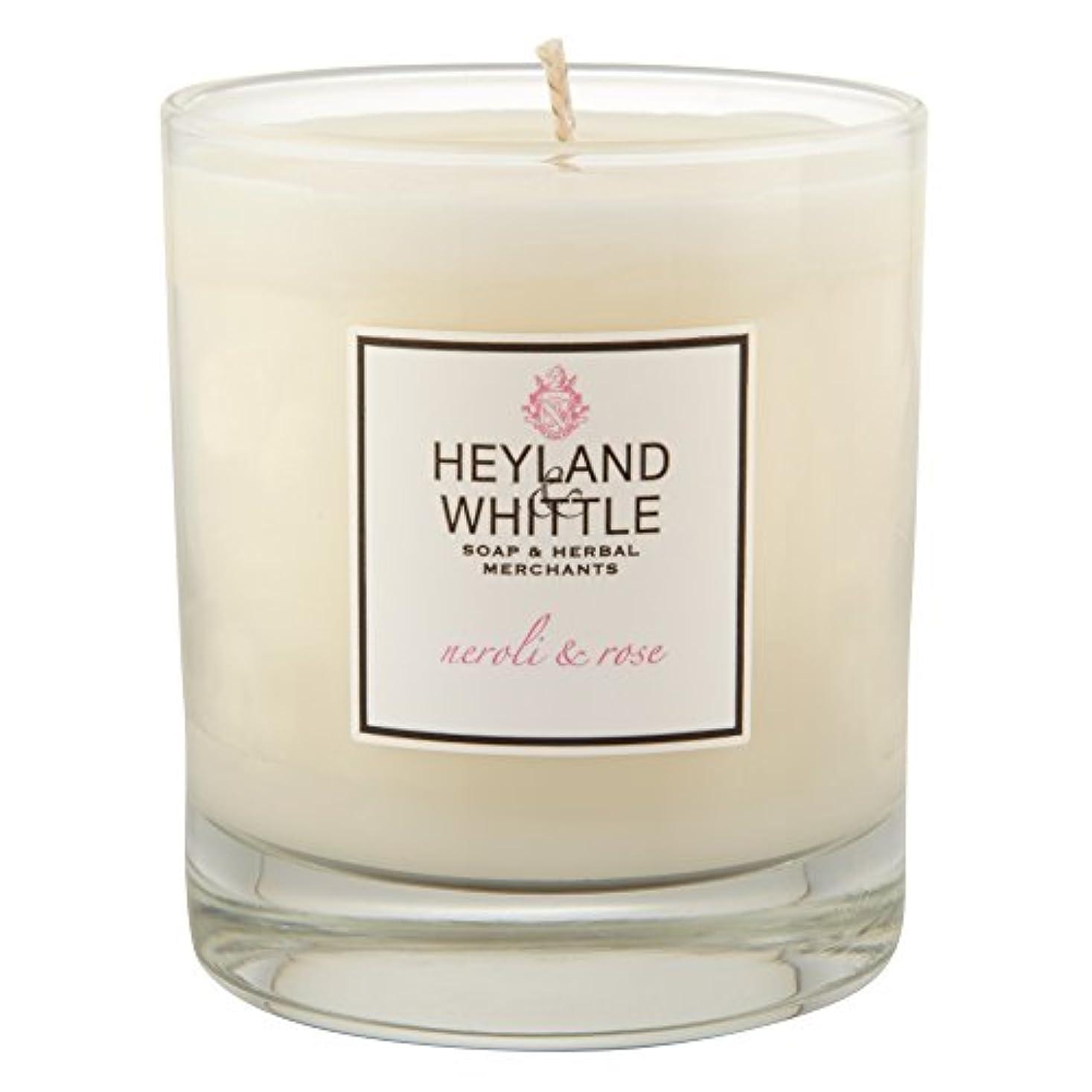 海峡悲しいことに観察するHeyland & Whittle Neroli and Rose Candle (Pack of 6) - Heyland&削るのネロリとローズキャンドル (Heyland & Whittle) (x6) [並行輸入品]
