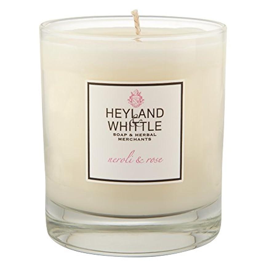 不満平らにする失業Heyland & Whittle Neroli and Rose Candle (Pack of 6) - Heyland&削るのネロリとローズキャンドル (Heyland & Whittle) (x6) [並行輸入品]