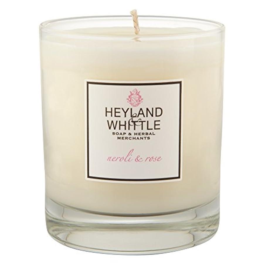 記念日分子好奇心Heyland & Whittle Neroli and Rose Candle (Pack of 6) - Heyland&削るのネロリとローズキャンドル (Heyland & Whittle) (x6) [並行輸入品]