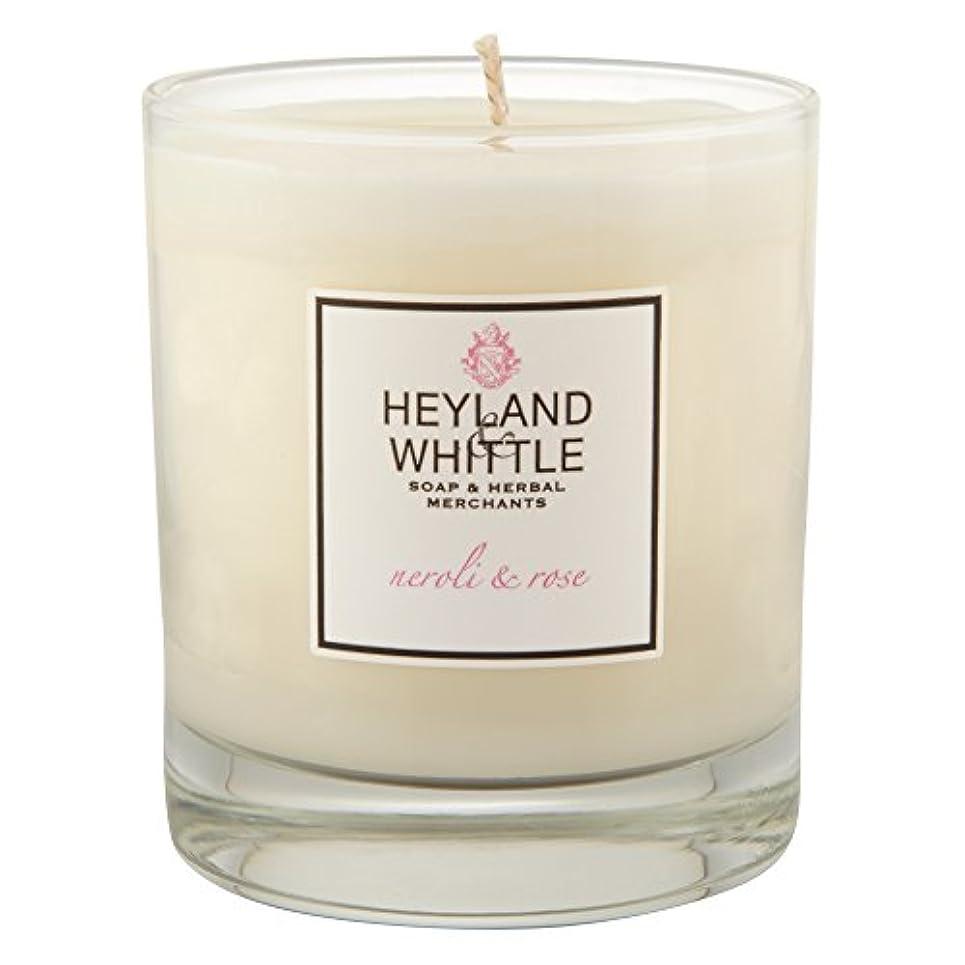 スペアお尻種類Heyland & Whittle Neroli and Rose Candle (Pack of 2) - Heyland&削るのネロリとローズキャンドル (Heyland & Whittle) (x2) [並行輸入品]