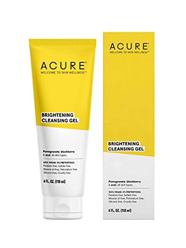 シェル事実上古くなったACURE社 Facial Cleanser スーパーfruit + Chlorella 4オンス