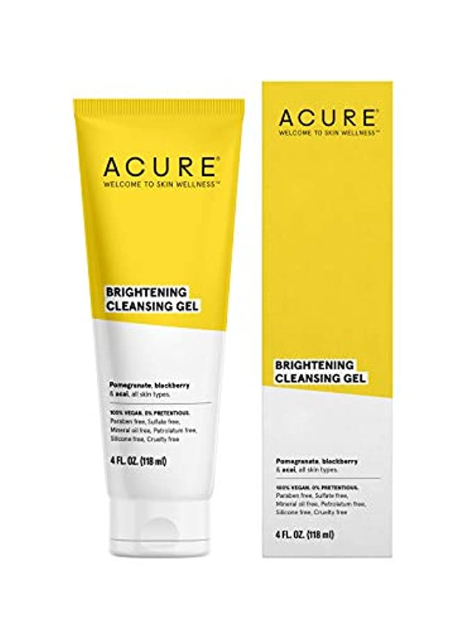 実り多い振動させるタオルACURE社 Facial Cleanser スーパーfruit + Chlorella 4オンス
