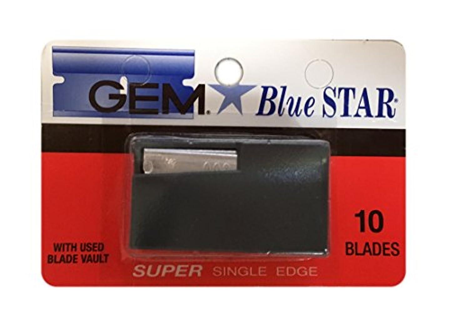 威信累積別にGEM (ジー イー エム) ブルー スター シングル ブレード 替刃 10枚入り [並行輸入品]