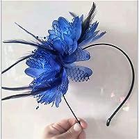 CMFJSOP 花嫁のティアラヘアアクセサリーアマゾンヨーロッパと米国の人気のあるヘッドバックルの花嫁介添人の誇張された花の羽のヘッドバンドのヘアピンの爆発的なモデル