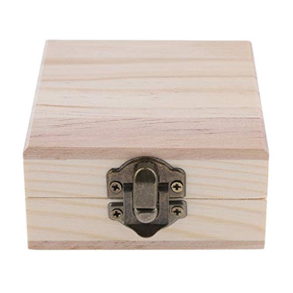 アボートなめる同一性FLAMEER 天然木 精油ボックス 香水ケース エッセンシャルオイル 2本 収納ボックス 15ミリ