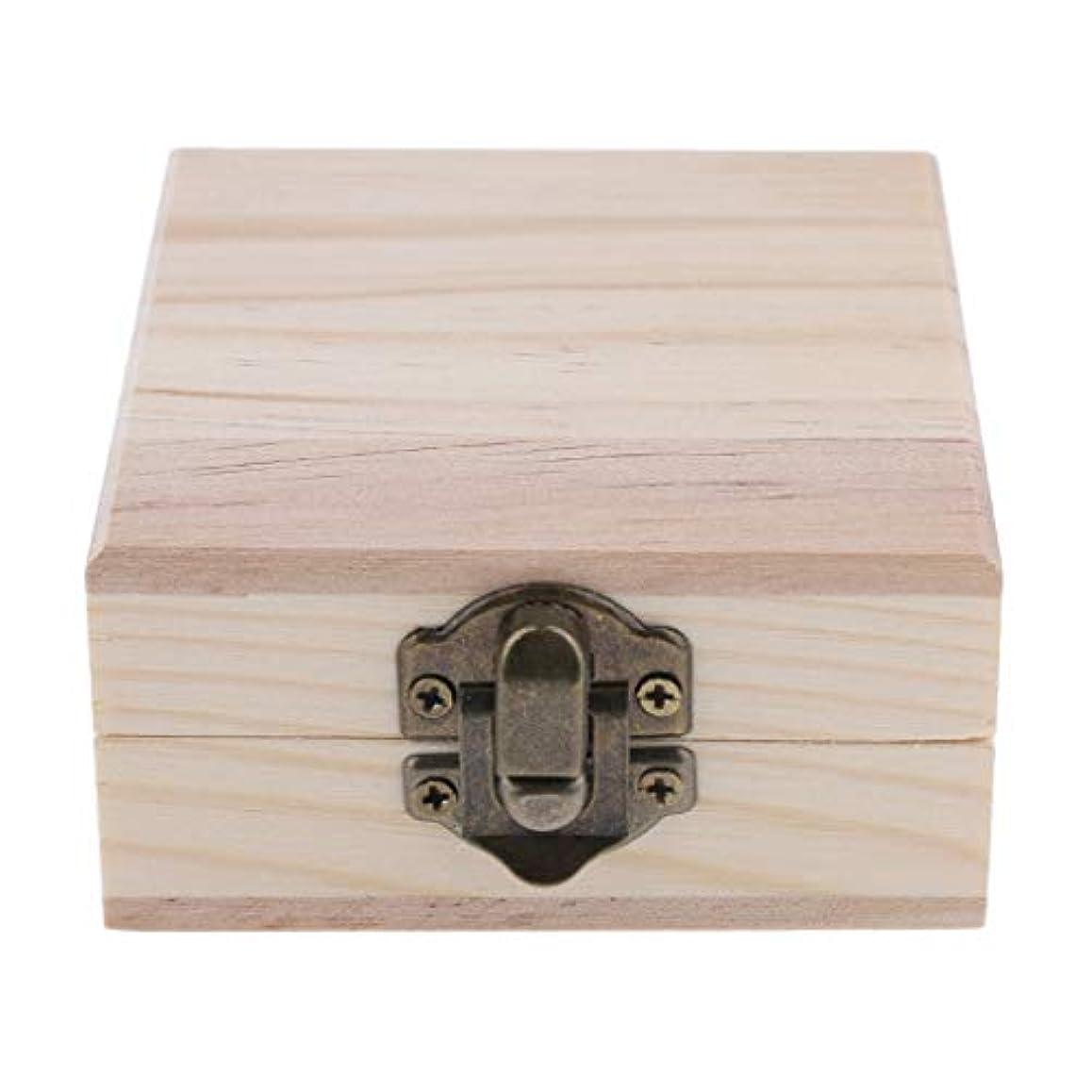 弁護人ホイットニー任意FLAMEER 天然木 精油ボックス 香水ケース エッセンシャルオイル 2本 収納ボックス 15ミリ