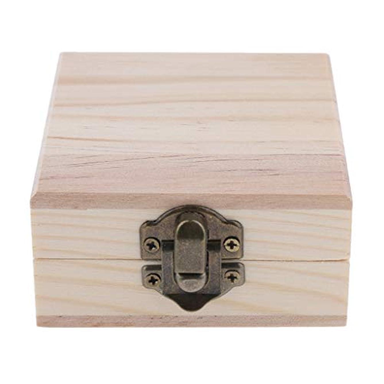 FLAMEER 天然木 精油ボックス 香水ケース エッセンシャルオイル 2本 収納ボックス 15ミリ