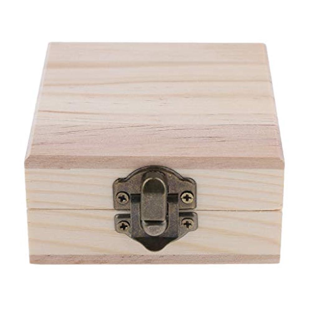日没原稿ロック解除天然木 精油ボックス 香水ケース エッセンシャルオイル 2本 収納ボックス 15ミリ