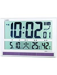 芳国産業 掛け時計 電波 デジタル タイムゲート ソーラー 置き掛け兼用 ホワイトYW9088WH