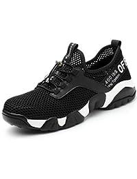 [ブルーポメロ] 安全靴 作業靴 サンダルタイプ スニーカー メンズ メッシュ 超通気 鋼先芯 ケブラー繊維ミッドソール 軽量 夏場対応 男女兼用