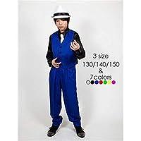 キッズダンス衣装・-ベスト・ブルー・130サイズ-・ドライクリーニング可・ポリエステル・『Step・by・Teens・Ever』