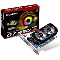 Gigabyte GeForce GT 430 1 GB ddr3 PCI Express 2.0 DVI - I / HDMI / D - Sub SLI Readyグラフィックスカード、gv-n430oc-1gl