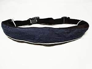 インフレータブルライフジャケット☆救命胴衣☆ベルトタイプ 手動膨張式 9色から選択可 (デニム)