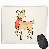 鹿ゲームマウスパッドマウスパッド滑り止めラバーマウスマット長方形マウスパッド用デスクラップトップ事務作業