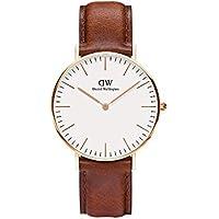 Daniel Wellington Women's DW00100035 Year-Round Analog Quartz Brown Watch