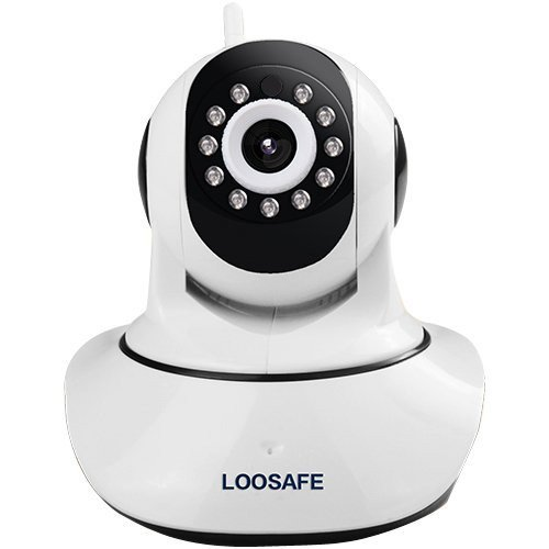 RoomClip商品情報 - loosafe 720P ネットワークカメラ ベビーカメラ 1280×720 暗視 遠隔操作 動体検知 警報機能 マイク内蔵 日本語説明書付 赤ちゃん ペット 防犯 監視 ベビーモニター