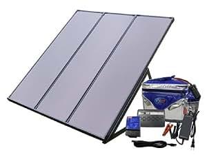 【バッテリー付】太陽光パネル非常用ソーラー電源キット PVS-55WB