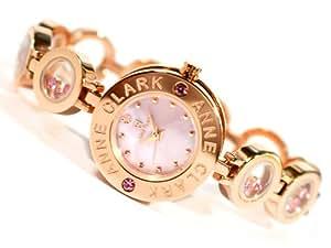[アンクラーク]ANNE CLARK 腕時計 天然1Pダイヤモンド ムービングカラーストーン ブレス ウォッチ ピンクシェル AT-1008-17PG レディース