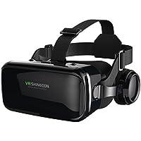 Popsky 3D VRゴーグル イヤホン一体型 VRヘッドセット 3Dメガネ ゲーム 映画 超3D映像効果 レンズ距離調整可能 近視対応 4.7~6.0インチのiphone/androidスマホ対応