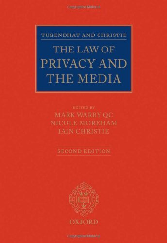 Download Tugendhat and Christie: The Law of Privacy and the Media (0) 0199581150