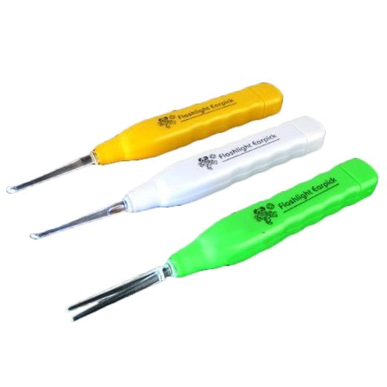 MIRACLE LEDライト付き耳かき イヤーピック 耳かき LEDライト ピンセット ピック 大 小 アタッチメント 収納 MC-L-MIMI