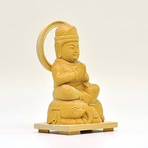 木彫り仏像 ★童子型【普賢菩薩】 干支お守り本尊 辰年(たつ) 巳年(へび) 材質:桧(ヒノキ)