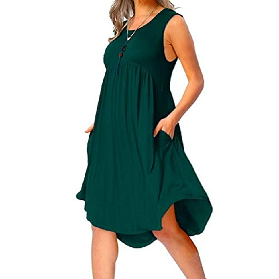 七面鳥時間MIFAN の女性のドレスカジュアルな不規則なドレスルースサマービーチTシャツドレス